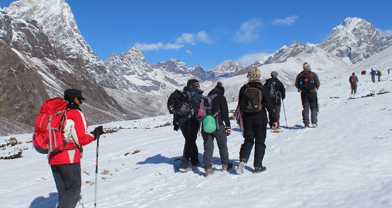 album everest three high pass trekking