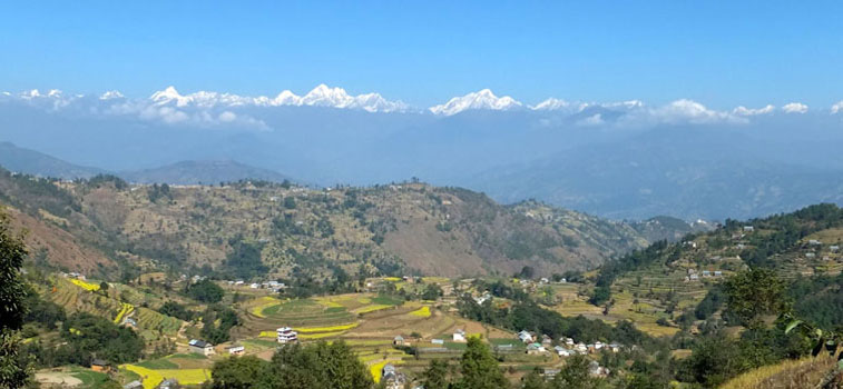 nagarkot mountain view pic