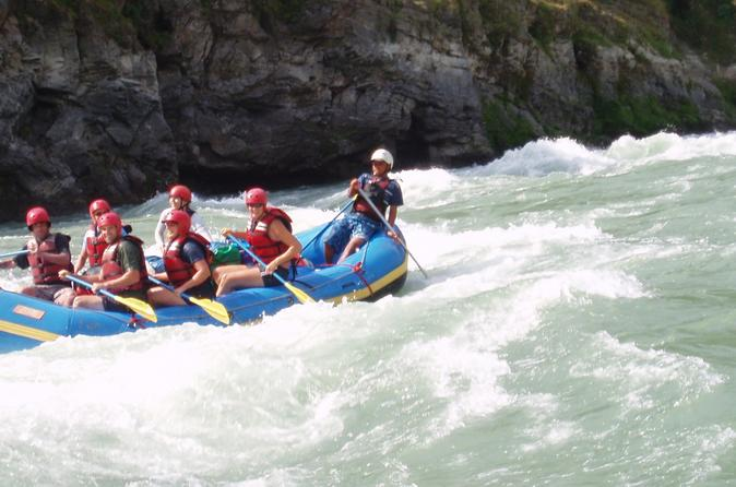 white water rafting on trisuli river from kathmandu in dhading